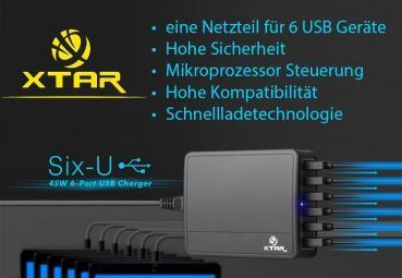 Xtar U1 six-U 6-Port-USB-Ladegerät