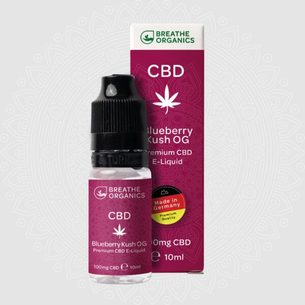 Breathe Organics CBD E-Liquid Blueberry Kush 10ml