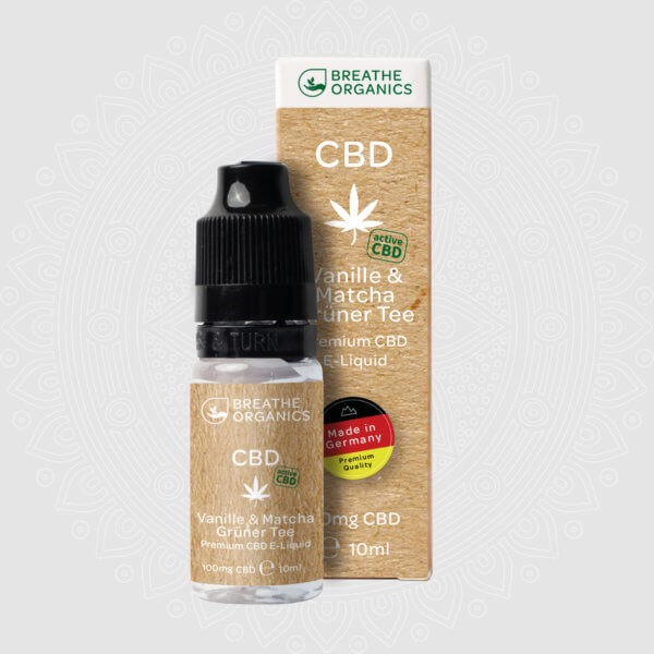 Breathe Organics CBD E-Liquid Vanille & Matcha Grüner Tee 10ml