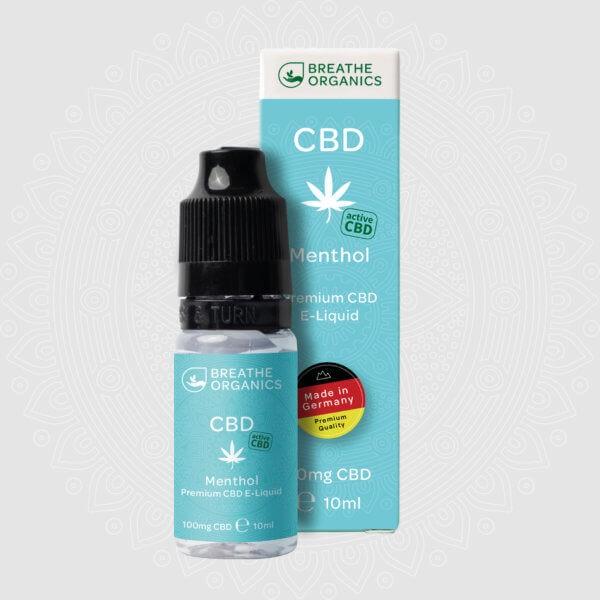 Breathe Organics CBD E-Liquid Menthol 10ml