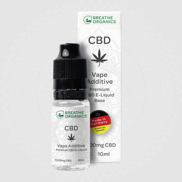 Breathe Organics CBD E-Liquid Base Vape Additve 1000mg 10ml